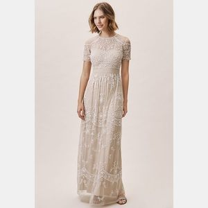 Anthropologie x BHLDN Ruby Beaded Dress